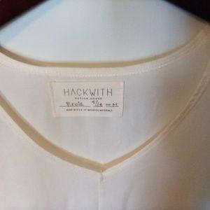 Hackwith Design House Cream Tunic Blouse Medium